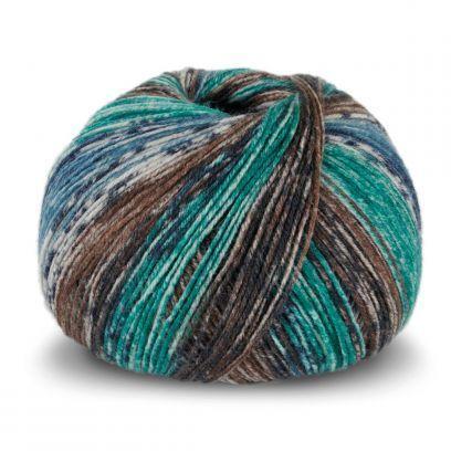 Tynn SW Wool Forte - Brun/Turkis (106)