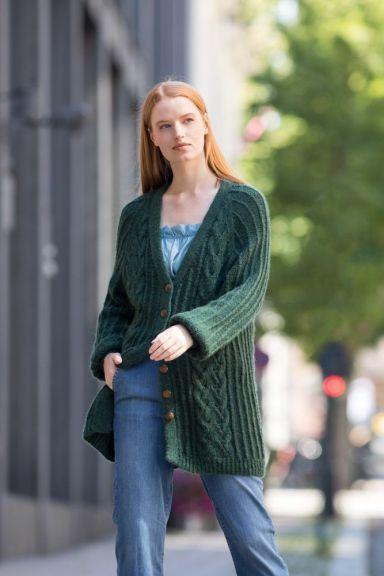 DG419-08 Eline Cardigan (Barlindgrønn)