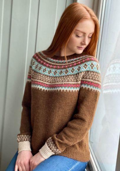 Byfin-genser (Varm brun melert)