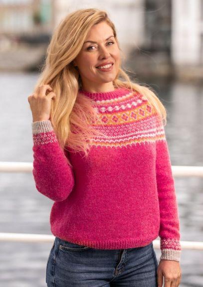 Byfin-genser (Bringebær melert)