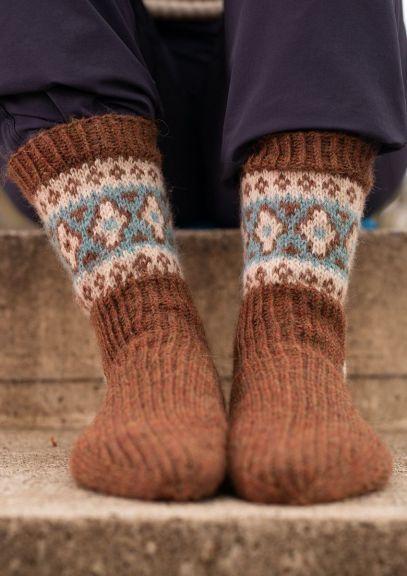 ByFin-sokker (Varm brun melert)
