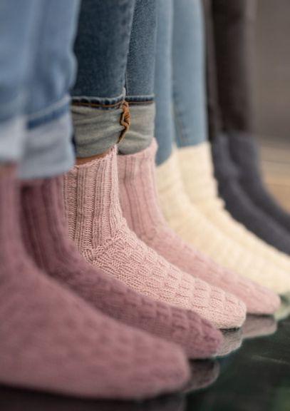 Bystrikksokker (Lys rosa)