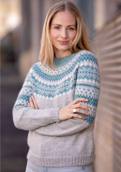 RetroFin-genser (Lys grå melert)