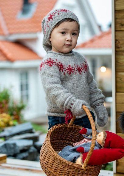 Snøfnugg-genser (Grå)