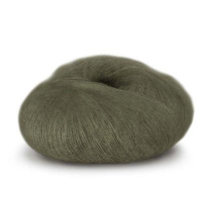 Tynn Kidsilk Erle - Armygrønn (4012)